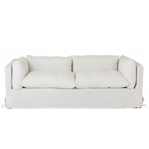 Canapé 2/3 Personnes Bouleau/Textile Blanc | www.cosy-home-design.fr