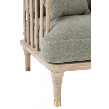 Fauteuil 1 Personne Chene/Textile Vert Olive | www.cosy-home-design.fr