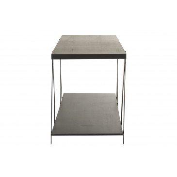 Table De Presentation Bois/Métal Gris   www.cosy-home-design.fr