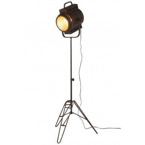 Lampe Sur Pied Film Métal/Verre Noir | www.cosy-home-design.fr