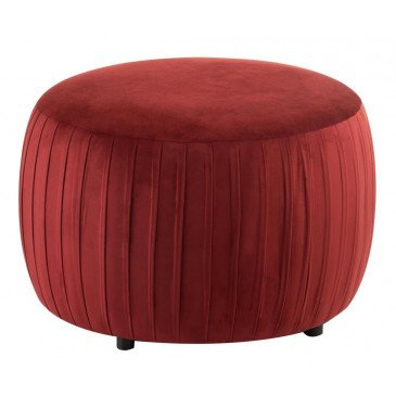 Pouf Rond Velours Bordeaux | www.cosy-home-design.fr