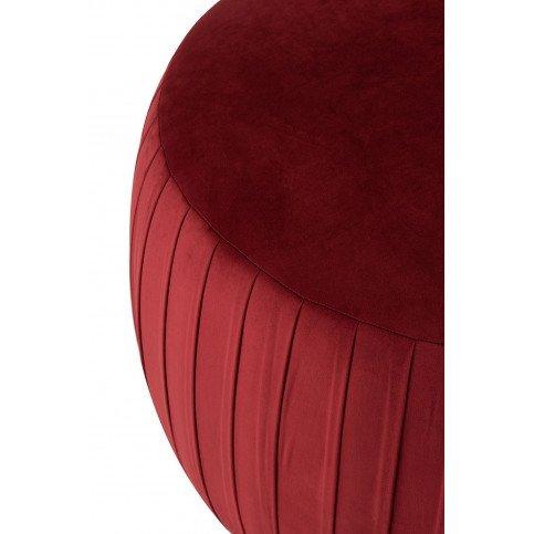 Pouf Rond Velours Bordeaux | www.cosy-home-design.fr