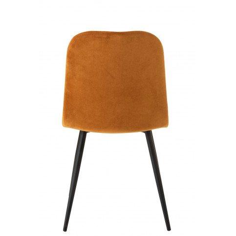 Chaise Claire Métal/Textile Ocre | www.cosy-home-design.fr