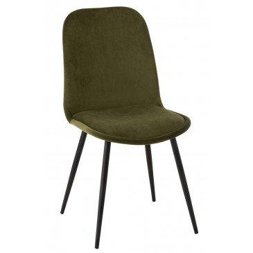 Chaise Claire Métal/Textile Vert | www.cosy-home-design.fr