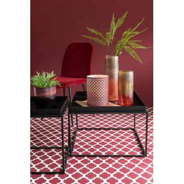 Chaise Claire Métal/Textile Bordeaux | www.cosy-home-design.fr