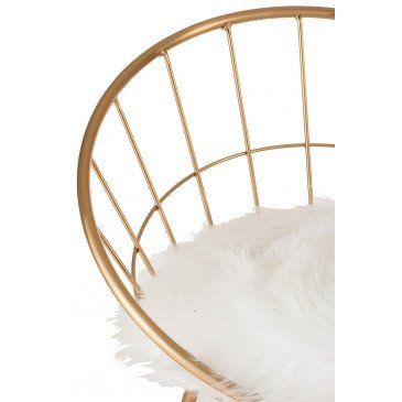Chaise De Bar Ronde Métal Or | www.cosy-home-design.fr