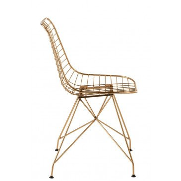 Chaise Charlotte Métal Or | www.cosy-home-design.fr
