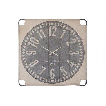 Horloge Murale Canevas Grand Textile Beige/Gris | www.cosy-home-design.fr