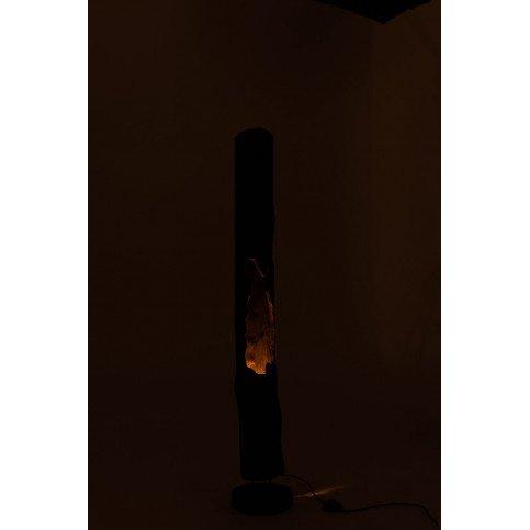 Lampe Tronc 1 Ouverture Bois Paulownia Noir | www.cosy-home-design.fr