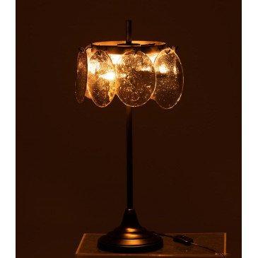 Lampe Folio Métal/Verre Noir Argent | www.cosy-home-design.fr