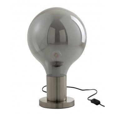 Lampe Globe Verre/Métal Gris/Argent | www.cosy-home-design.fr