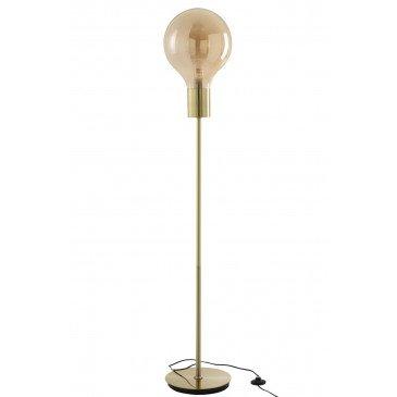 Lampe Sur Pied Globe Verre/Métal Or | www.cosy-home-design.fr