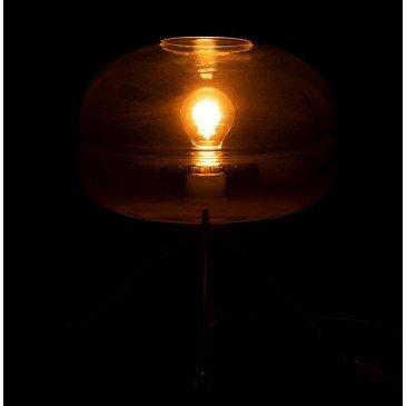 Lampe Moderne Trépied Verre/Métal Or/Noir | www.cosy-home-design.fr