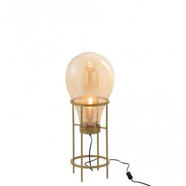 Lampe Montgolfiere Verre/Métal Or Petit | www.cosy-home-design.fr
