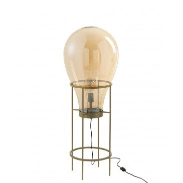Lampe Montgolfiere Verre/Métal Or Medium | www.cosy-home-design.fr