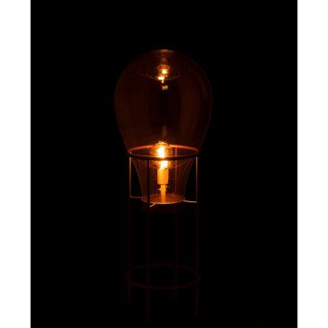 Lampe Montgolfiere Verre/Métal Or Medium | www.cosy-home-design.fr