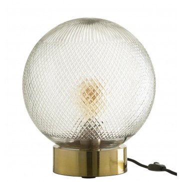 Lampe Boule Verre Or | www.cosy-home-design.fr