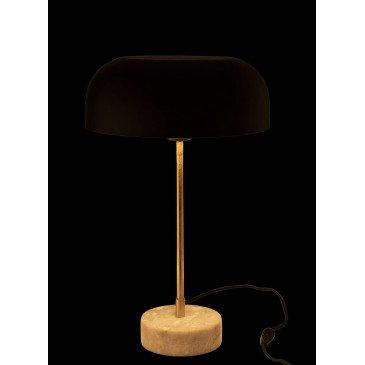Lampe Champignon Métal/Marbre Or/Noir | www.cosy-home-design.fr