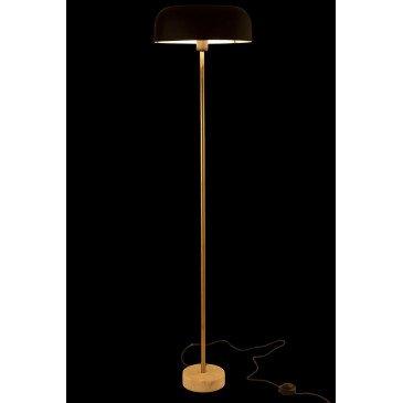 Lampe Sur Pied Champignon Métal/Marbre Or/Noir   www.cosy-home-design.fr
