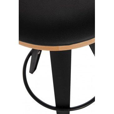 Tabouret De Bar Jeny Polypropylene Noir | www.cosy-home-design.fr