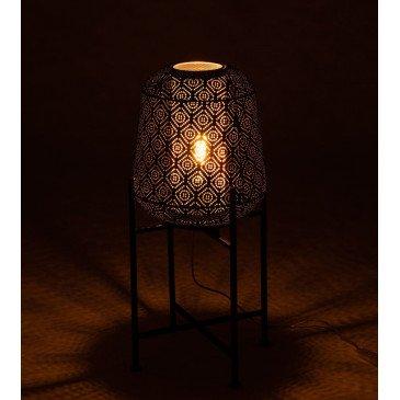 Lampe Orientale Fine Sur Pied Métal Noir Petit   www.cosy-home-design.fr