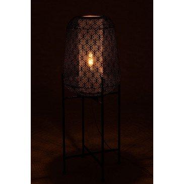 Lampe Orientale Fine Sur Pied Métal Noir Large | www.cosy-home-design.fr