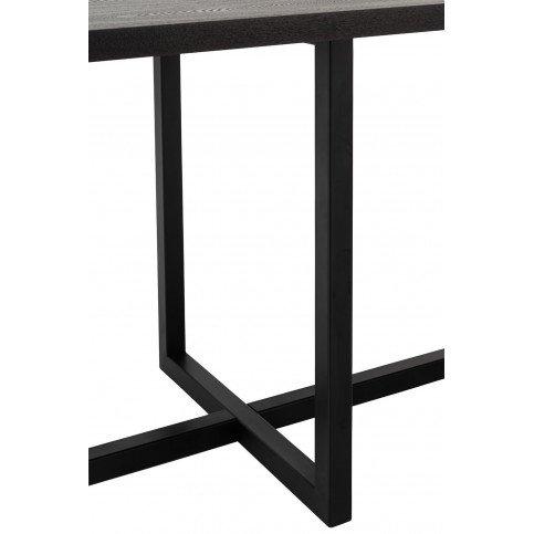 Table A Manger Rectangulaire Pied Central MDF/Métal Noir   www.cosy-home-design.fr
