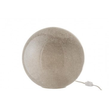 Lampe Dany Ronde Verre Gris Clair Large | www.cosy-home-design.fr