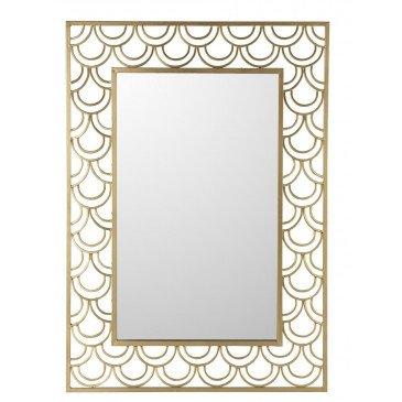 Miroir Arcs De Cercle Rectangulaire Métal/Verre Or | www.cosy-home-design.fr