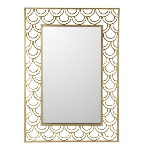 Miroir Arcs De Cercle Rectangulaire Métal/Verre Or   www.cosy-home-design.fr