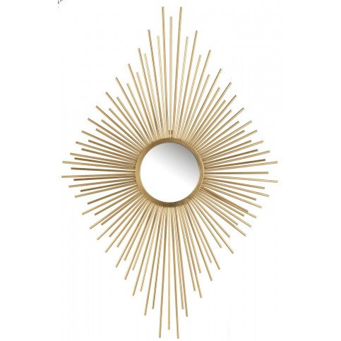 Miroir Rayons Losange Métal/Verre Or | www.cosy-home-design.fr