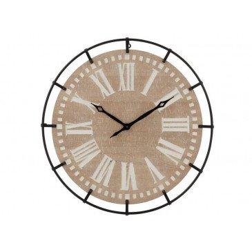 Horloge Ronde Chiffres Romains Métal/MDF Mix Large | www.cosy-home-design.fr