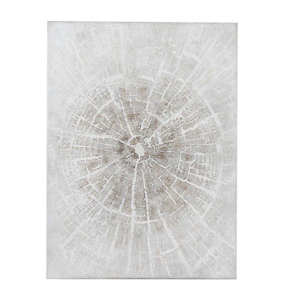 Peinture Impact Canevas/Bois Blanc Cassé/Marron Clair | www.cosy-home-design.fr