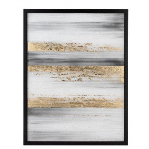 Peinture Lignes Ps Noir/Blanc/Or | www.cosy-home-design.fr