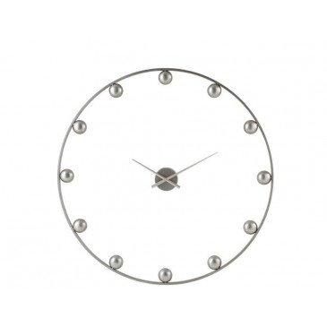 Horloge Murale Boules Métal Gris | www.cosy-home-design.fr