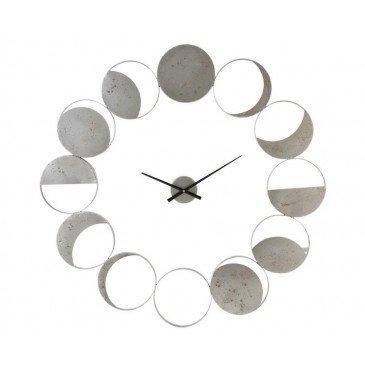 Horloge Murale Disques Métal Gris | www.cosy-home-design.fr