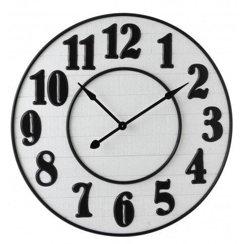 Horloge Chiffres Arabes Bois Blanc/Métal Noir | www.cosy-home-design.fr