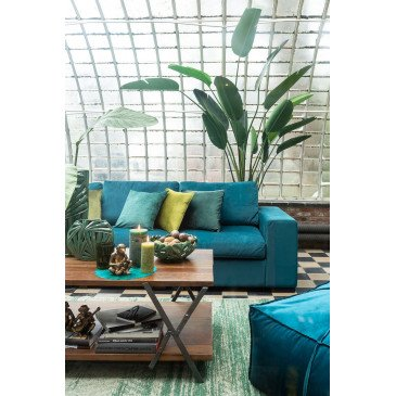 Canapé 2 Personnes Velours Gris | www.cosy-home-design.fr