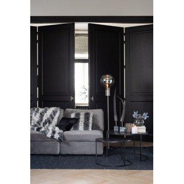Fauteuil Milieu Velours Gris | www.cosy-home-design.fr