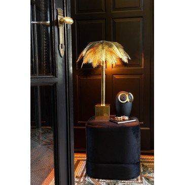 Pouf Carré Haut Velours Noir   www.cosy-home-design.fr