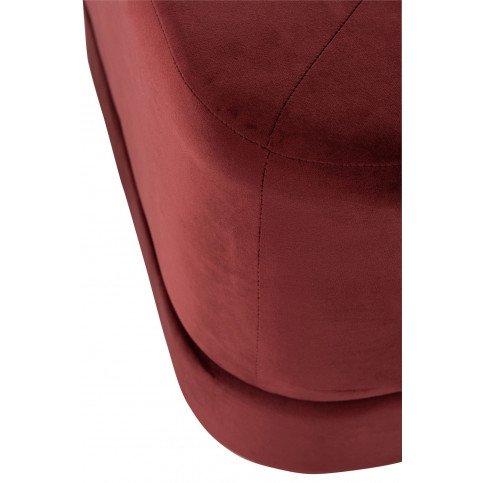 Pouf Carré Bas Velours Rouge | www.cosy-home-design.fr