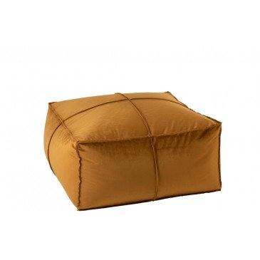 Pouf Carré Velours Ocre | www.cosy-home-design.fr