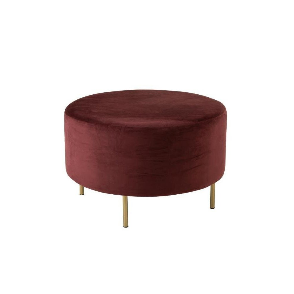 Pouf Pied Rond Velours Marsala Large | www.cosy-home-design.fr
