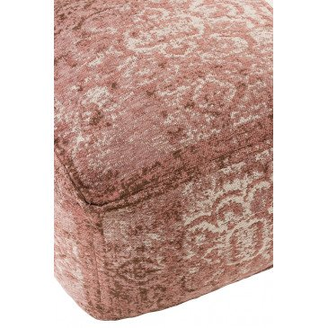 Pouf Imprimé Irrégulier Coton Rose | www.cosy-home-design.fr