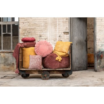 Pouf Fayola Coton Ocre | www.cosy-home-design.fr