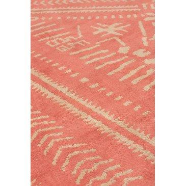 Tapis Ethnique Imprimés Coton Orange/Beige | www.cosy-home-design.fr