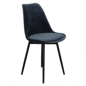 Chaise Style Contemporain Coloris Bleu Océan Brindille | www.cosy-home-design.fr
