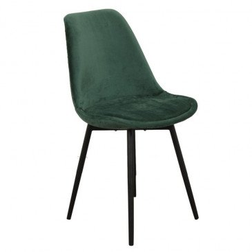 Chaise Style Contemporain Coloris Vert Emeraude Brindille | www.cosy-home-design.fr