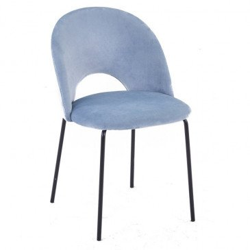 Chaise Style Contemporain Coloris Bleu Ciel Tanin | www.cosy-home-design.fr