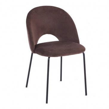 Chaise Style Contemporain Coloris Marron Cigare Tanin | www.cosy-home-design.fr